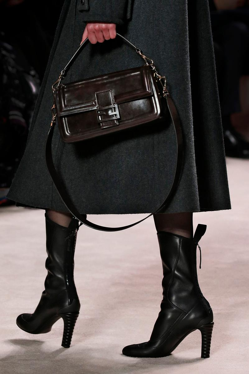 Fendi Fall/Winter 2020 Collection Bags Accessories Peekaboo Patent Leather Black