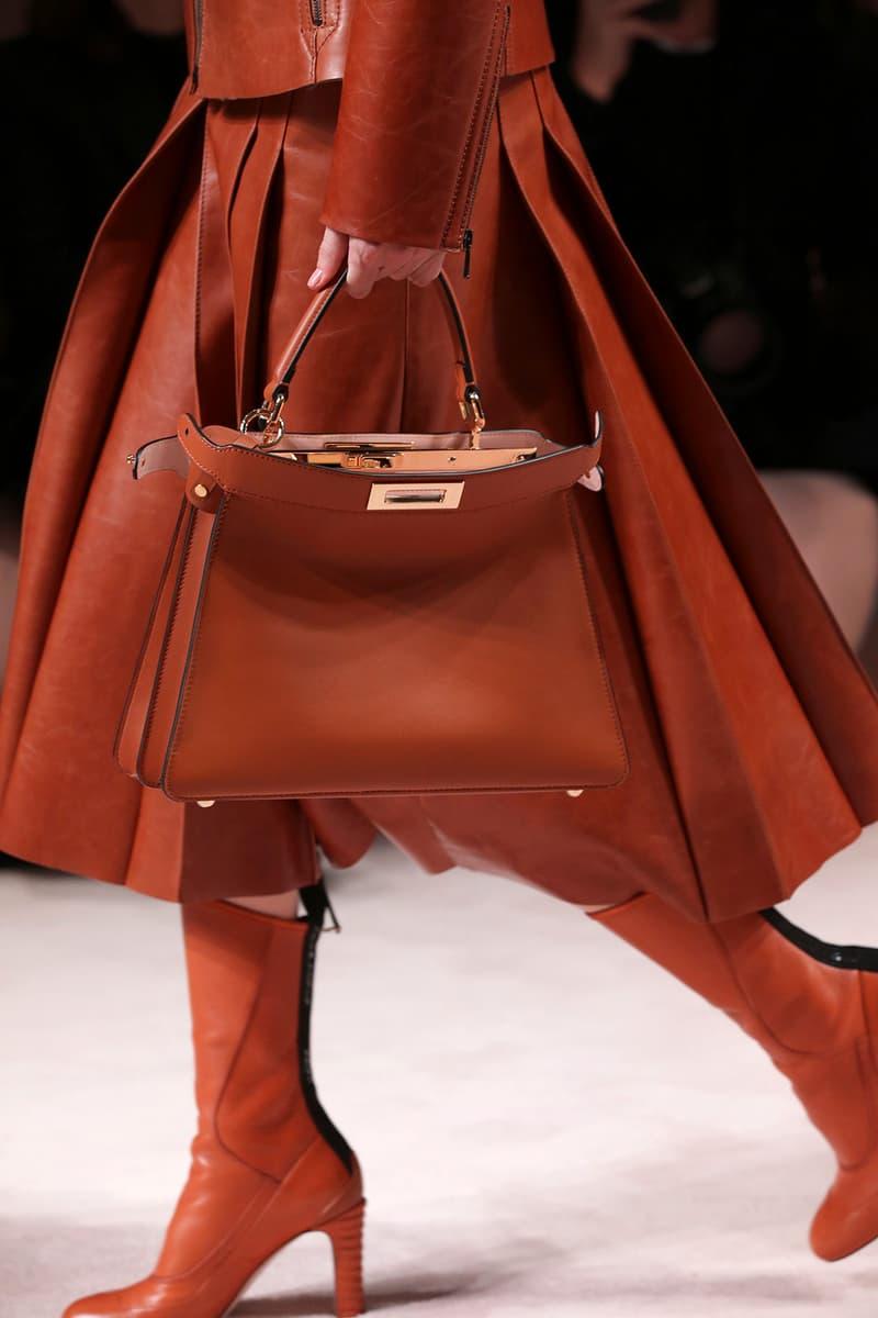 Fendi Fall/Winter 2020 Collection Bags Accessories Peekaboo Brown Orange