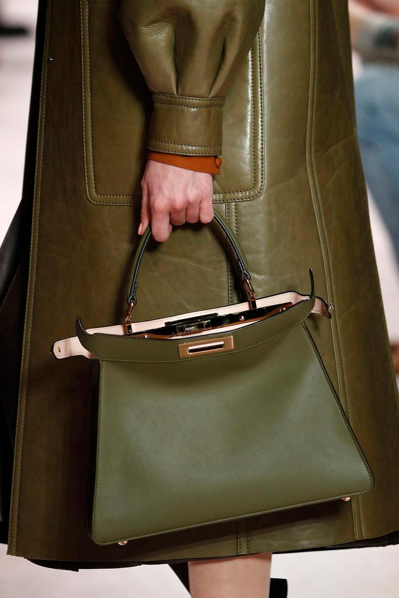 Fendi Fall/Winter 2020 Collection Bags Accessories Peekaboo Green
