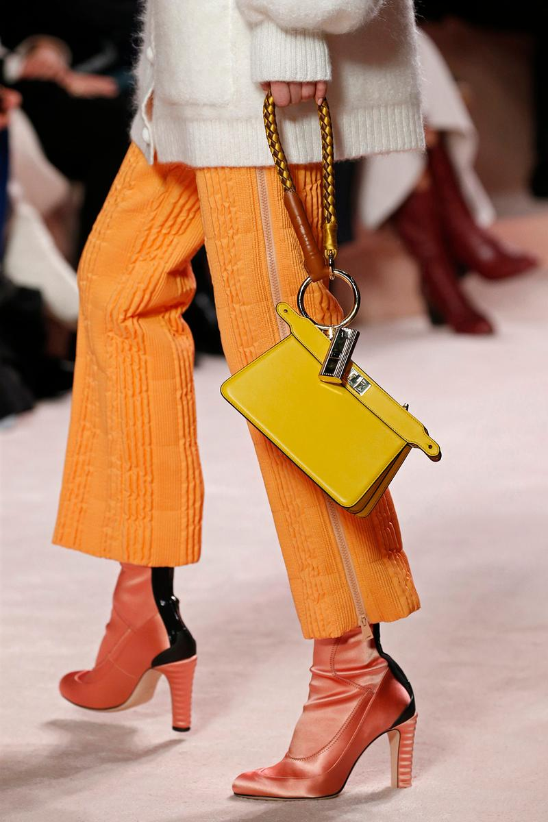 Fendi Fall/Winter 2020 Collection Bags Accessories Wristlet Clutch Orange