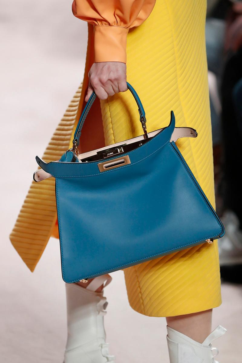Fendi Fall/Winter 2020 Collection Bags Accessories Peekaboo Blue