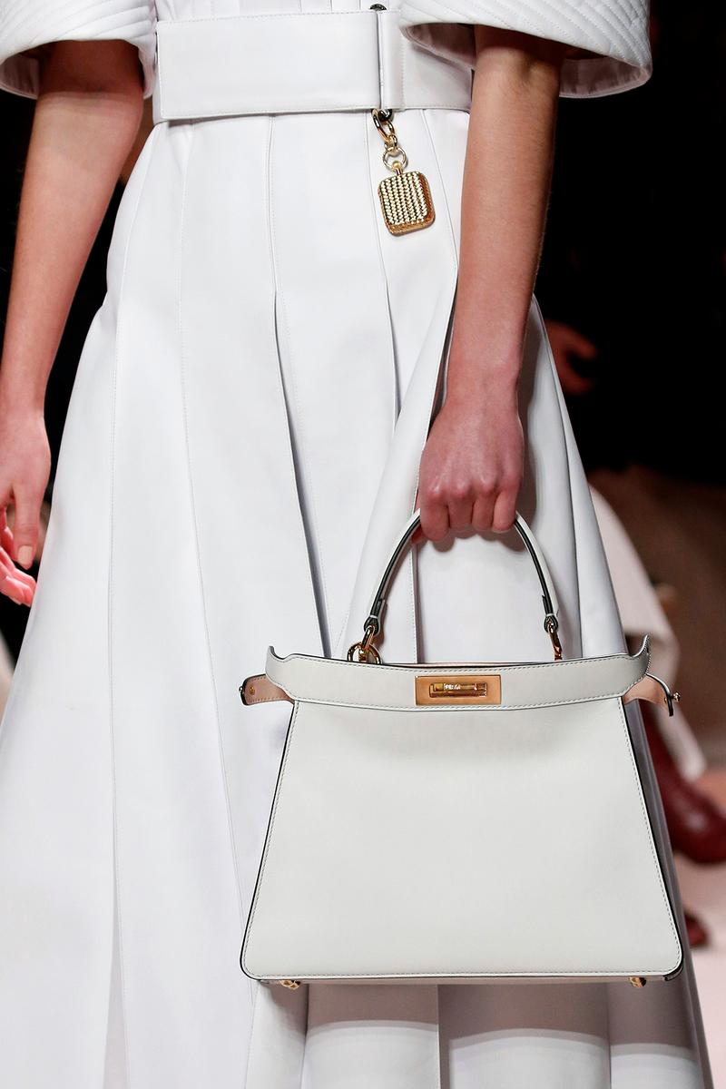 Fendi Fall/Winter 2020 Collection Bags Accessories Peekaboo White