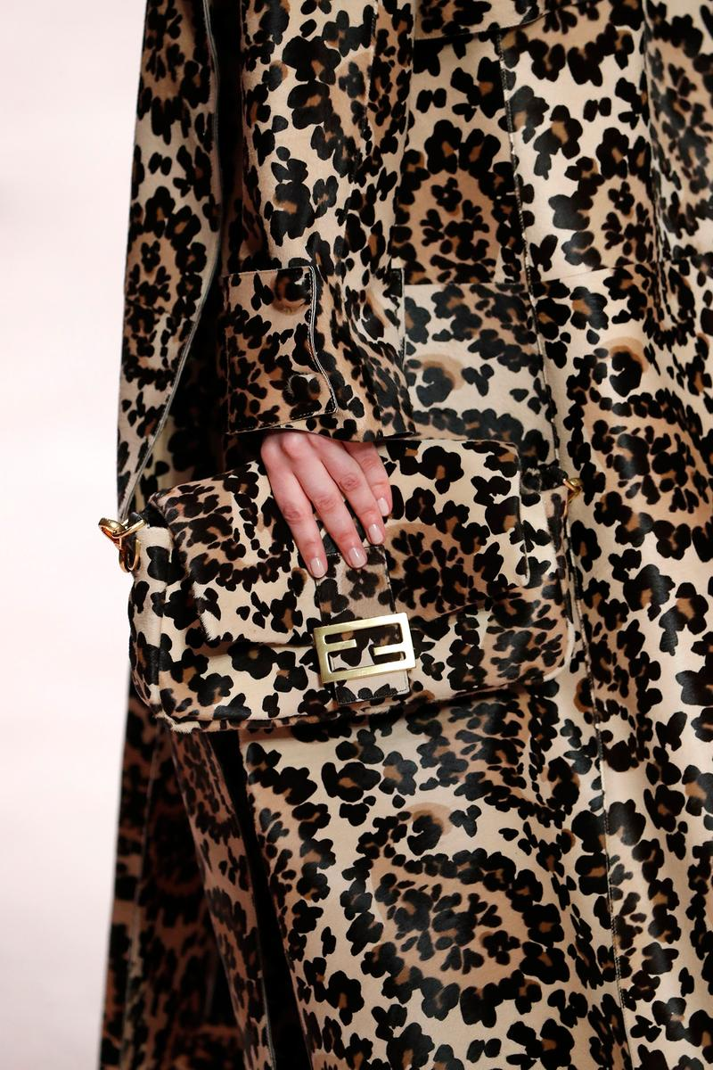 Fendi Fall/Winter 2020 Collection Bags Accessories Baguette Leopard