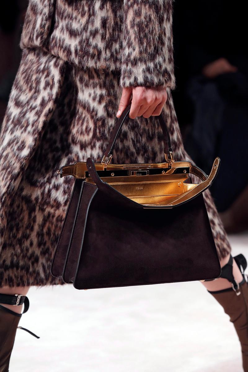 Fendi Fall/Winter 2020 Collection Bags Accessories Peekaboo Black
