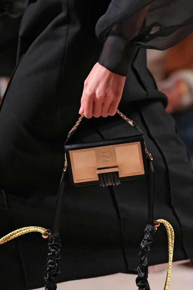 Fendi Fall/Winter 2020 Collection Bags Accessories Chaos Clutch Gold