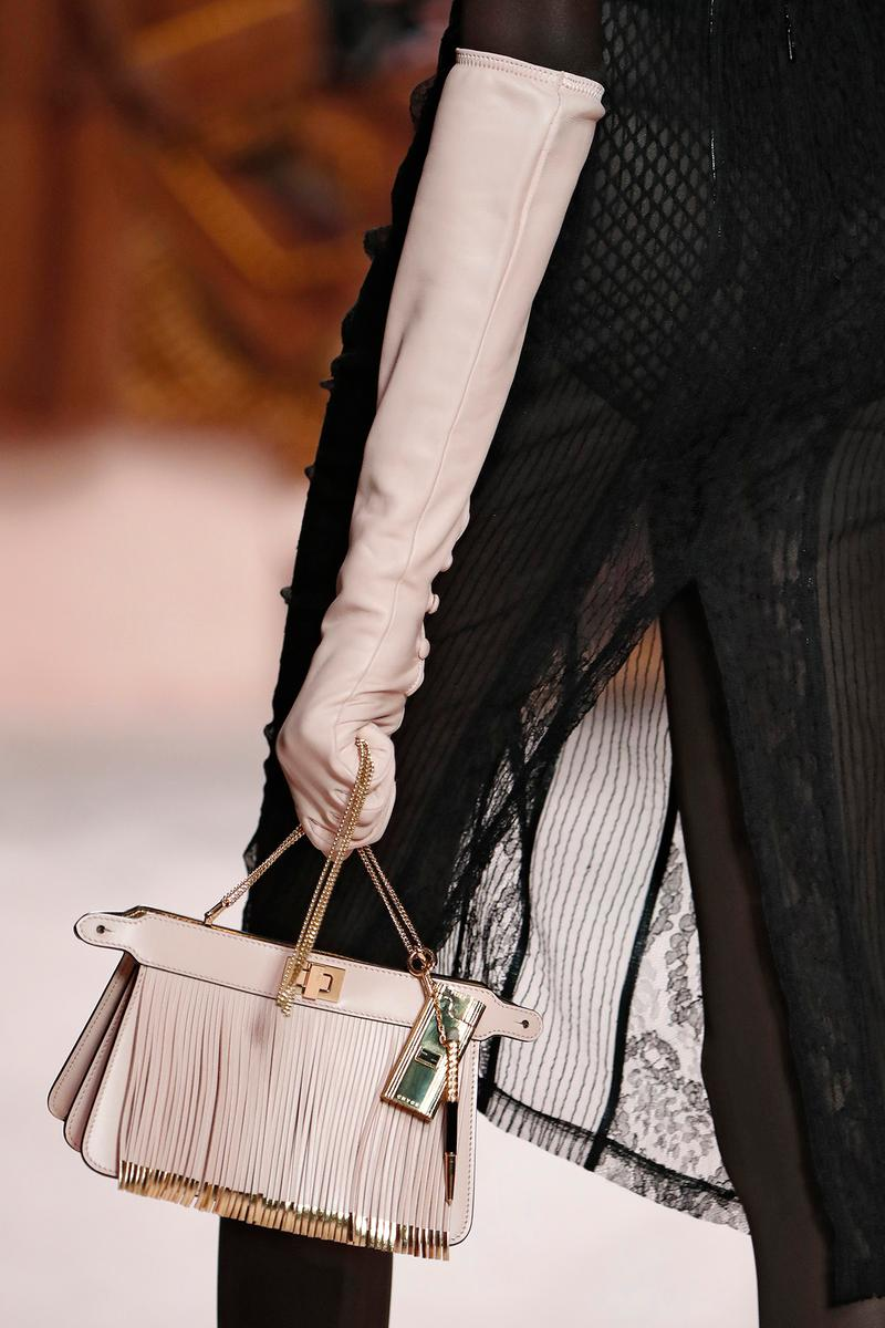 Fendi Fall/Winter 2020 Collection Bags Accessories Clutch Fringe