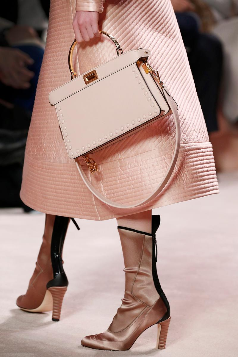 Fendi Fall/Winter 2020 Collection Bags Accessories Top Handle Pink