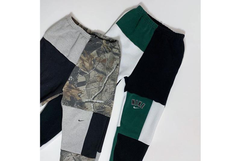 frankie collective vintage reworked sweatpants upcycling release nike adidas champion