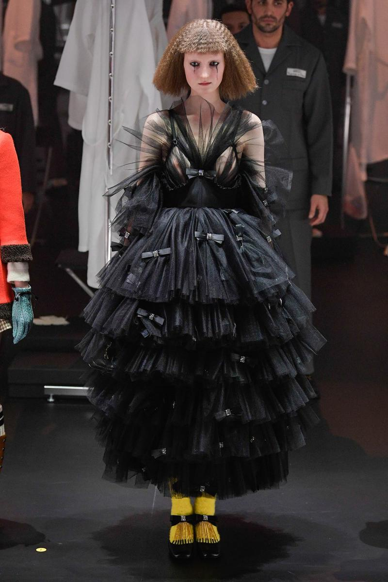 Gucci Fall/Winter 2020 Collection Runway Show Lace Gown Black