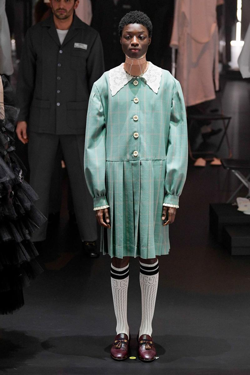 Gucci Fall/Winter 2020 Collection Runway Show Dress Green
