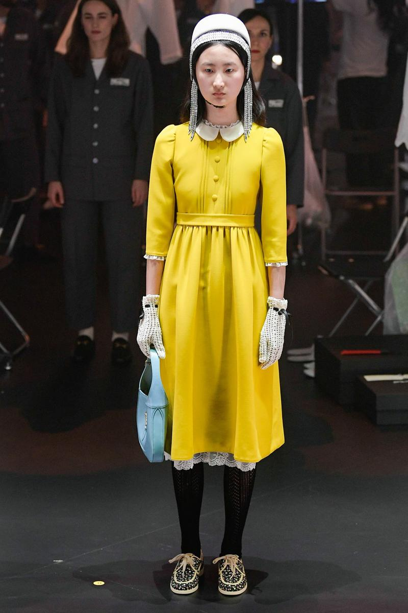 Gucci Fall/Winter 2020 Collection Runway Show Dress Yellow