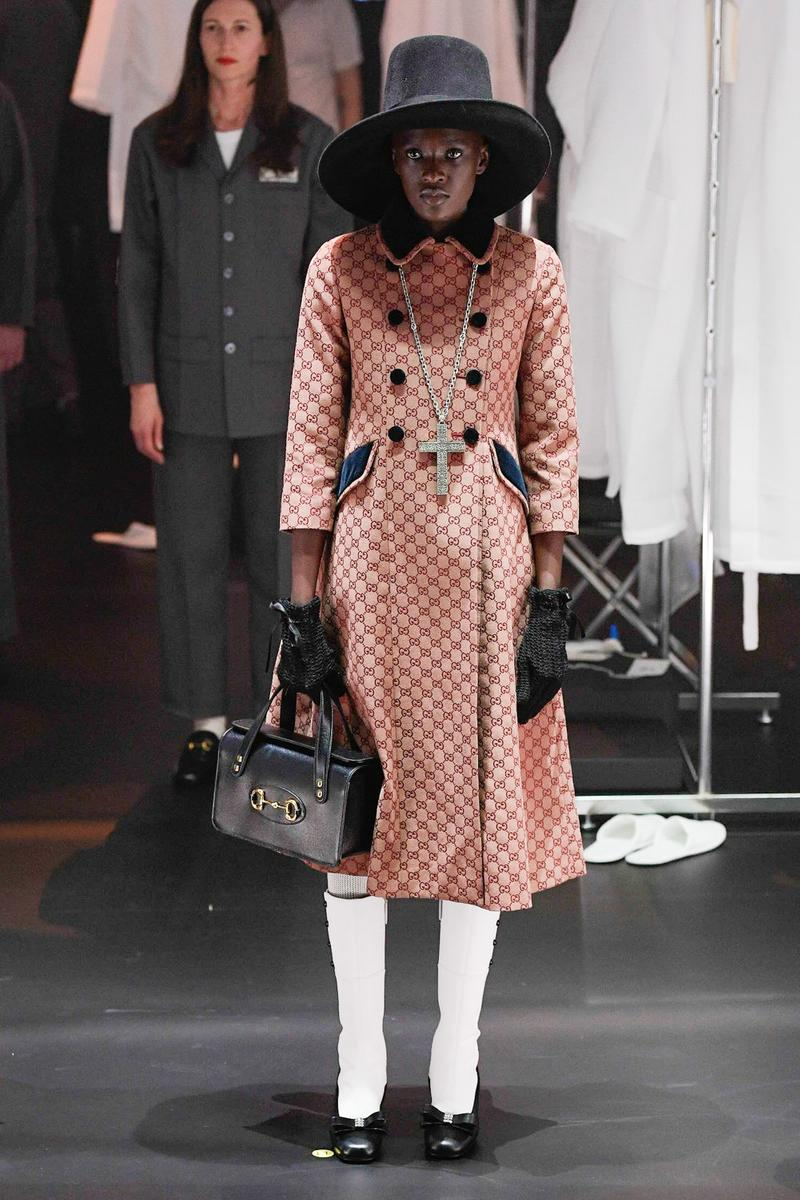 Gucci Fall/Winter 2020 Collection Runway Show Coat Monogram Orange
