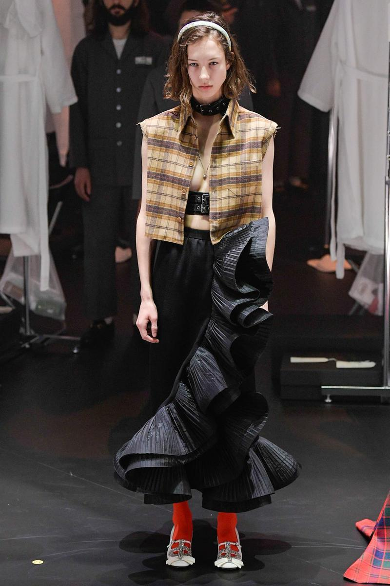 Gucci Fall/Winter 2020 Collection Runway Show Ruffled Skirt Black