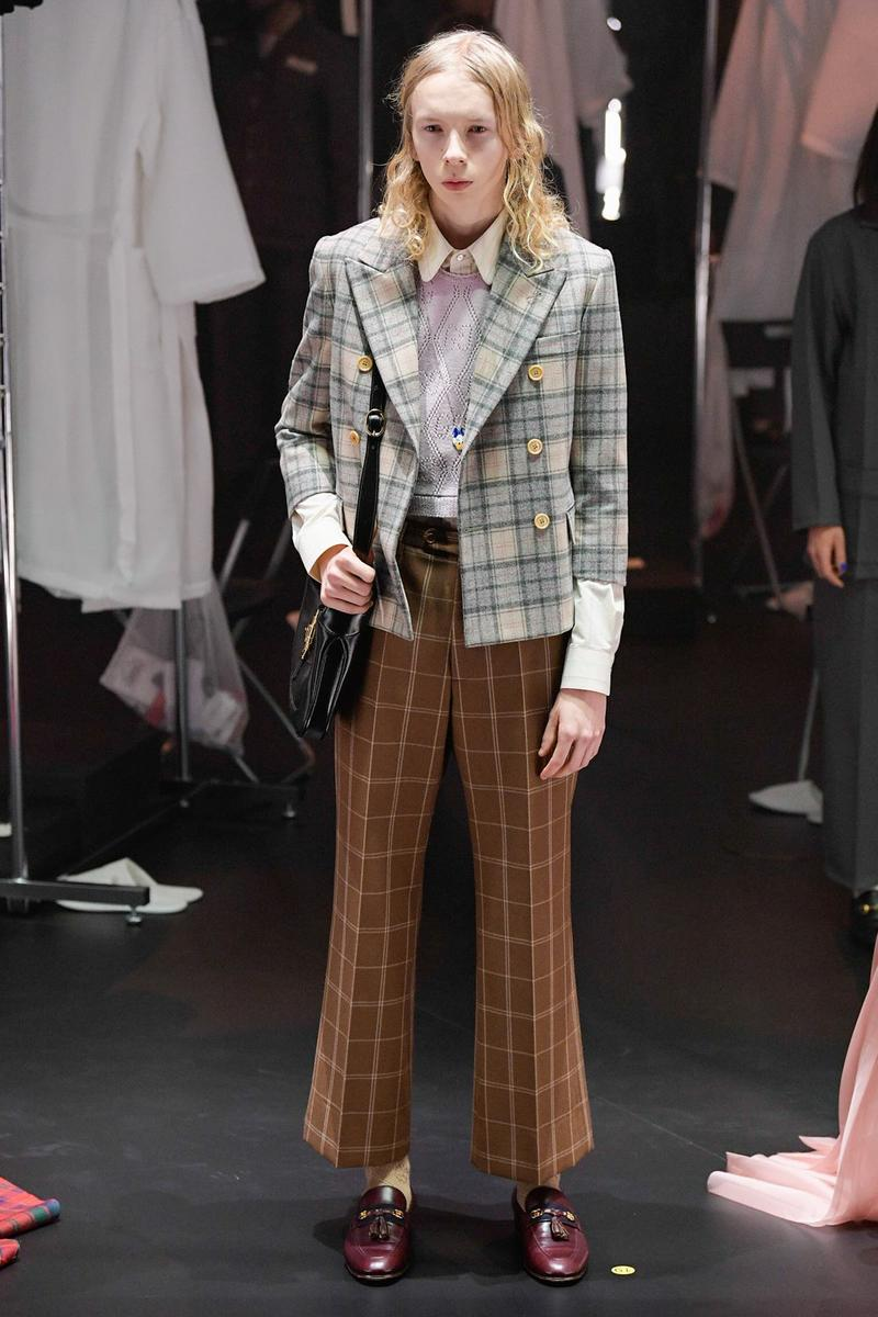 Gucci Fall/Winter 2020 Collection Runway Show Suit Plaid
