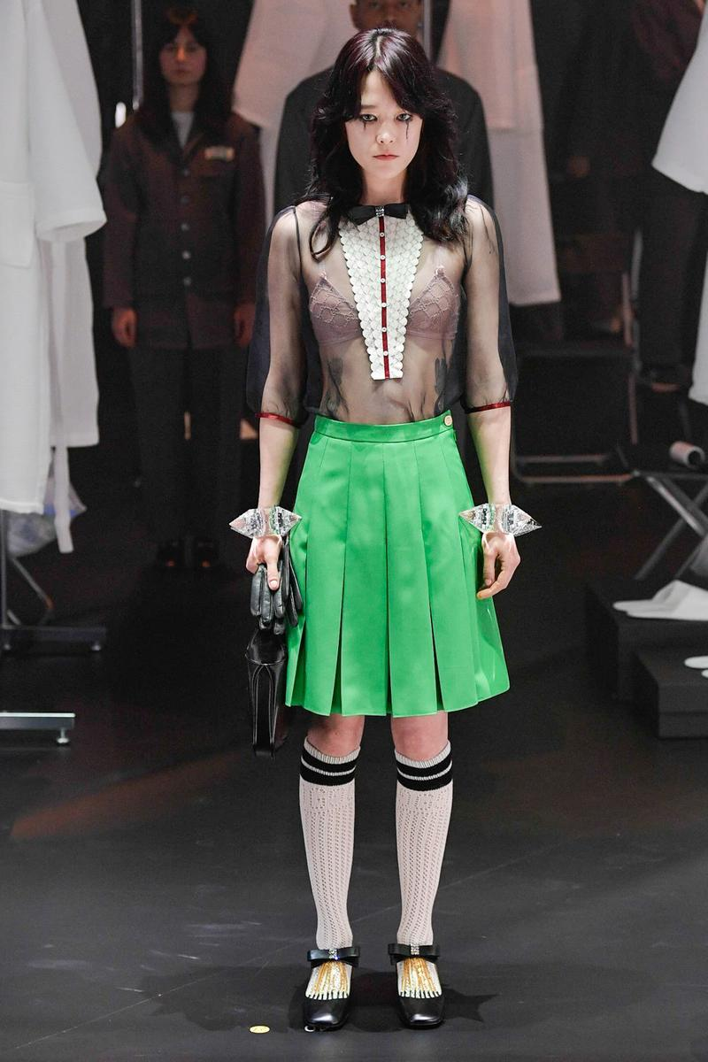 Gucci Fall/Winter 2020 Collection Runway Show Skirt Green