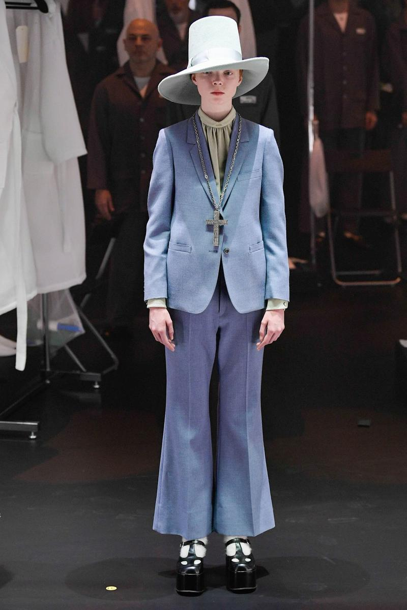 Gucci Fall/Winter 2020 Collection Runway Show Suit Blue