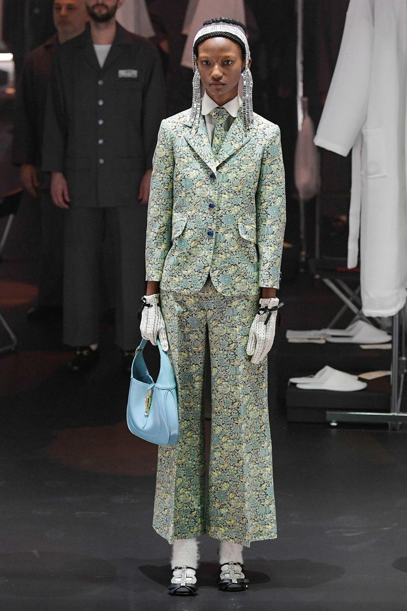 Gucci Fall/Winter 2020 Collection Runway Show Suit Floral Green
