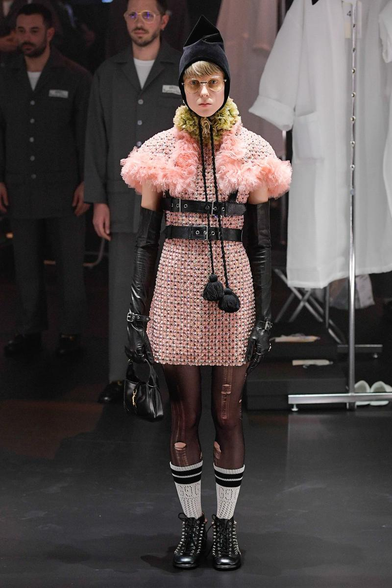 Gucci Fall/Winter 2020 Collection Runway Show Ruffle Dress Pink
