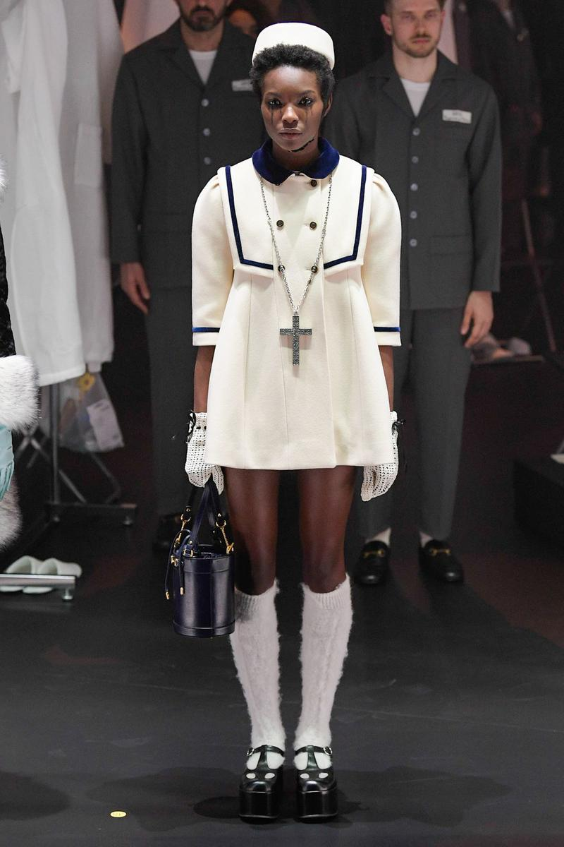 Gucci Fall/Winter 2020 Collection Runway Show Mini Dress White