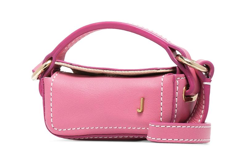 jacquemus pink le nani leather mini designer bag accessory
