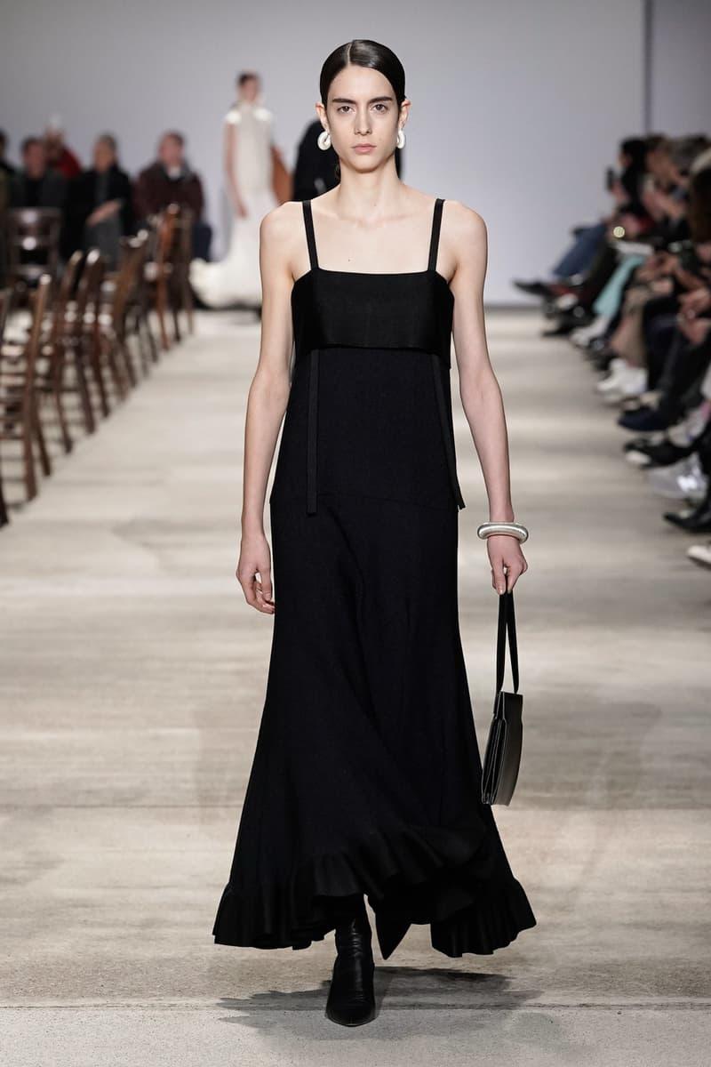 Jil Sander Fall/Winter 2020 Collection Runway Show Strap Dress Black