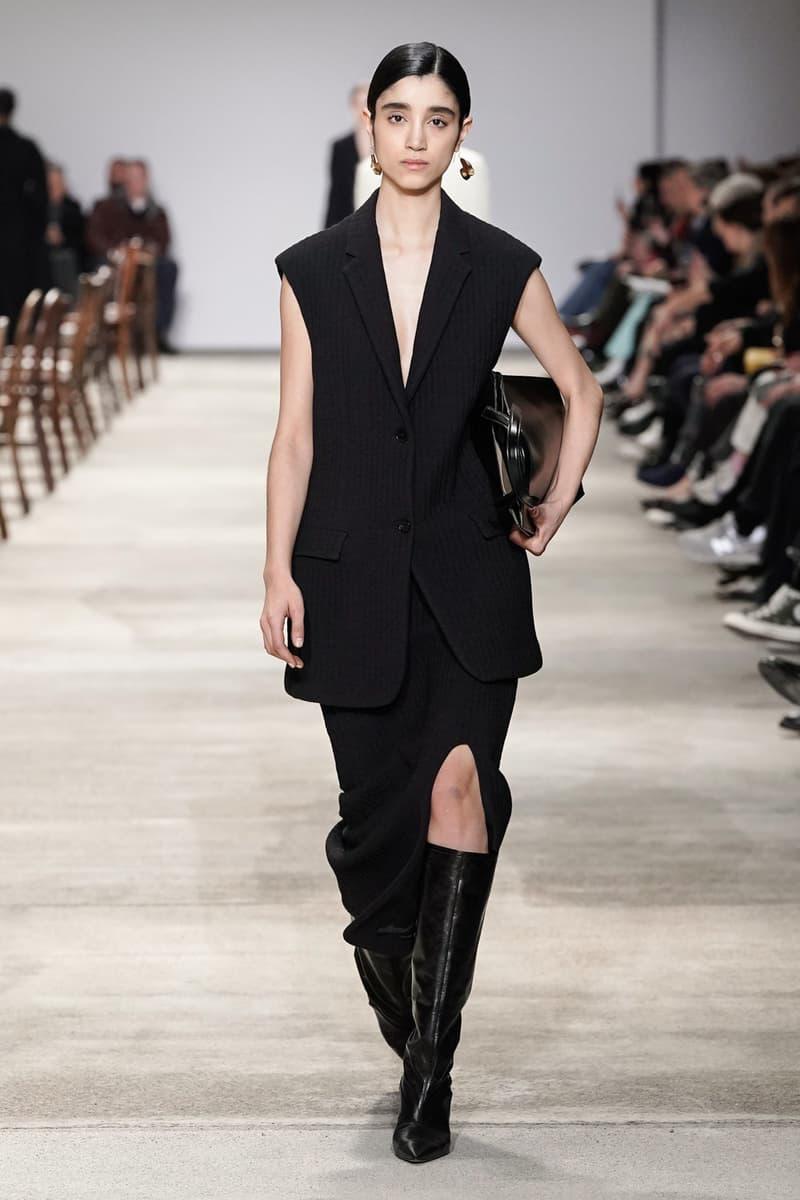 Jil Sander Fall/Winter 2020 Collection Runway Show Vest Skirt Black