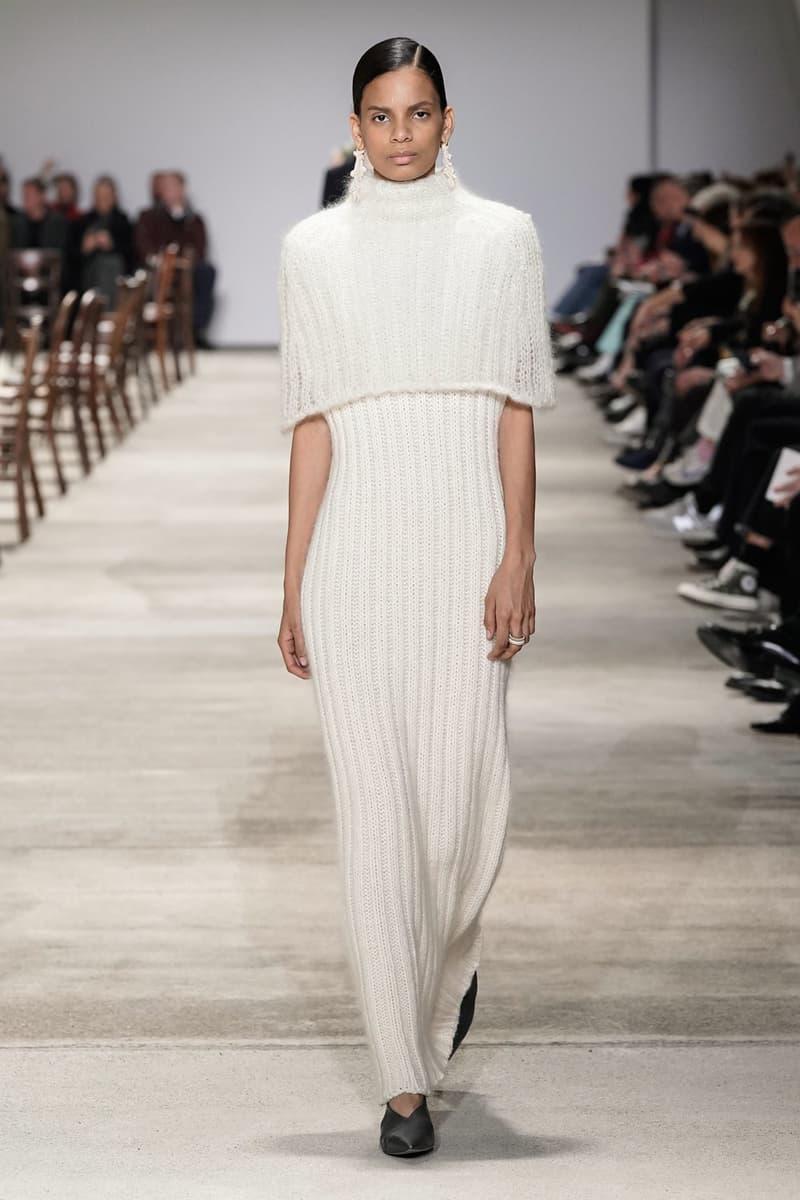 Jil Sander Fall/Winter 2020 Collection Runway Show Knit Dress Cream