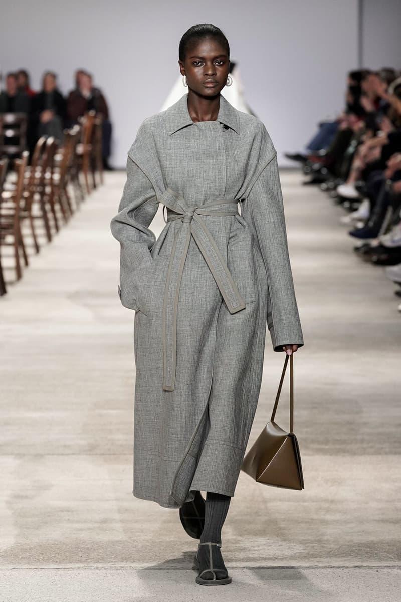 Jil Sander Fall/Winter 2020 Collection Runway Show Coat Grey