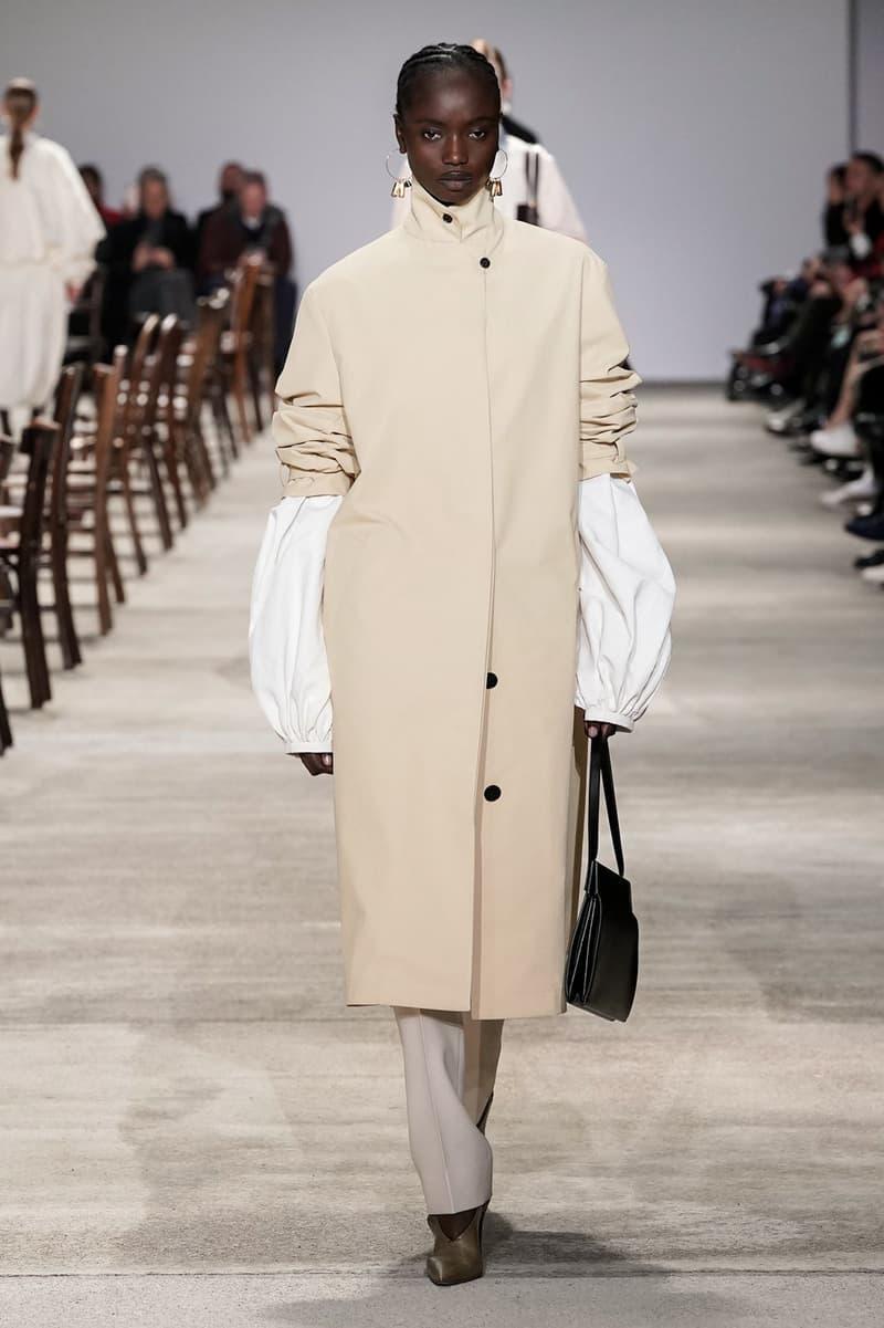 Jil Sander Fall/Winter 2020 Collection Runway Show Coat Beige