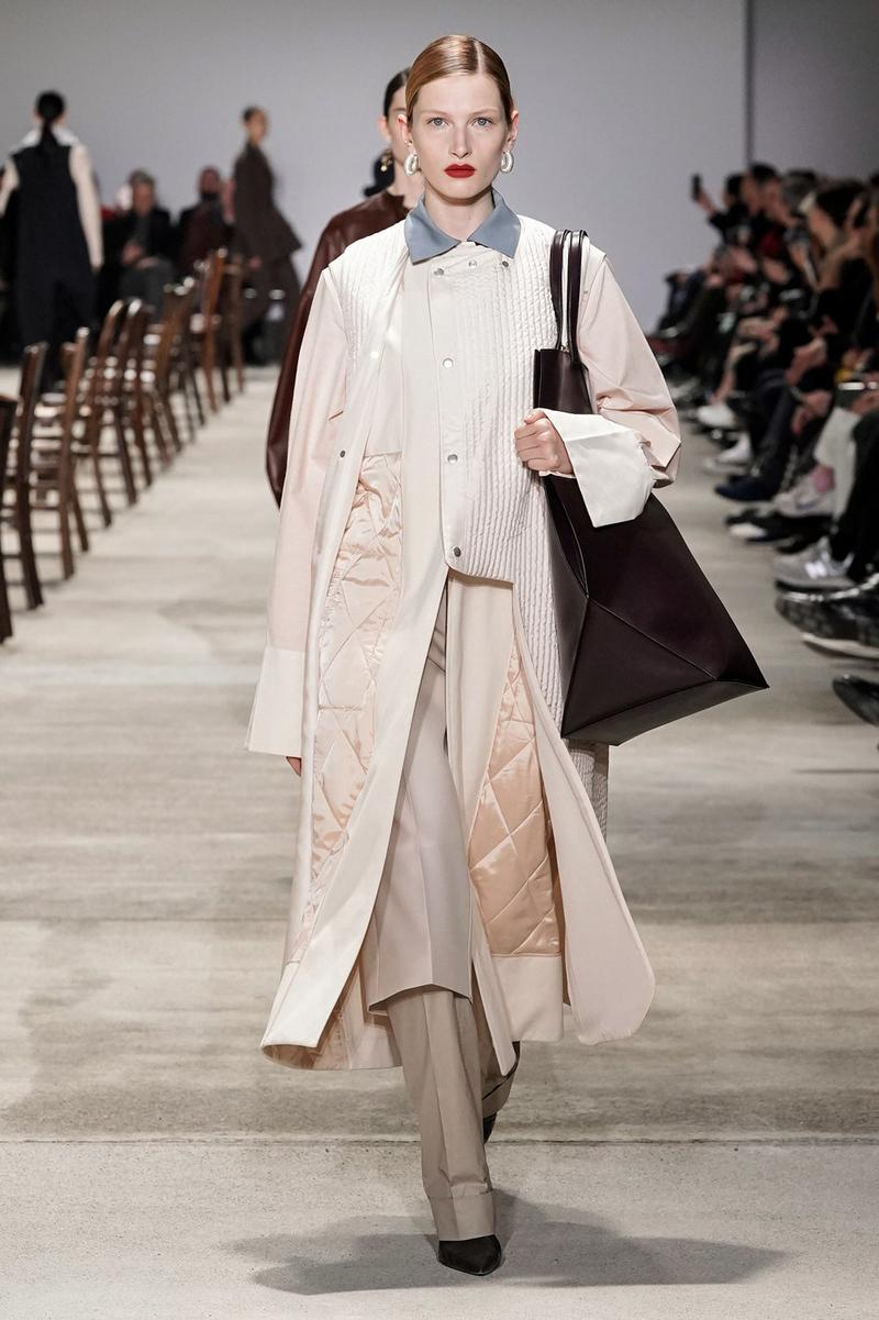 Jil Sander Fall/Winter 2020 Collection Runway Show Coat Pink Quilted
