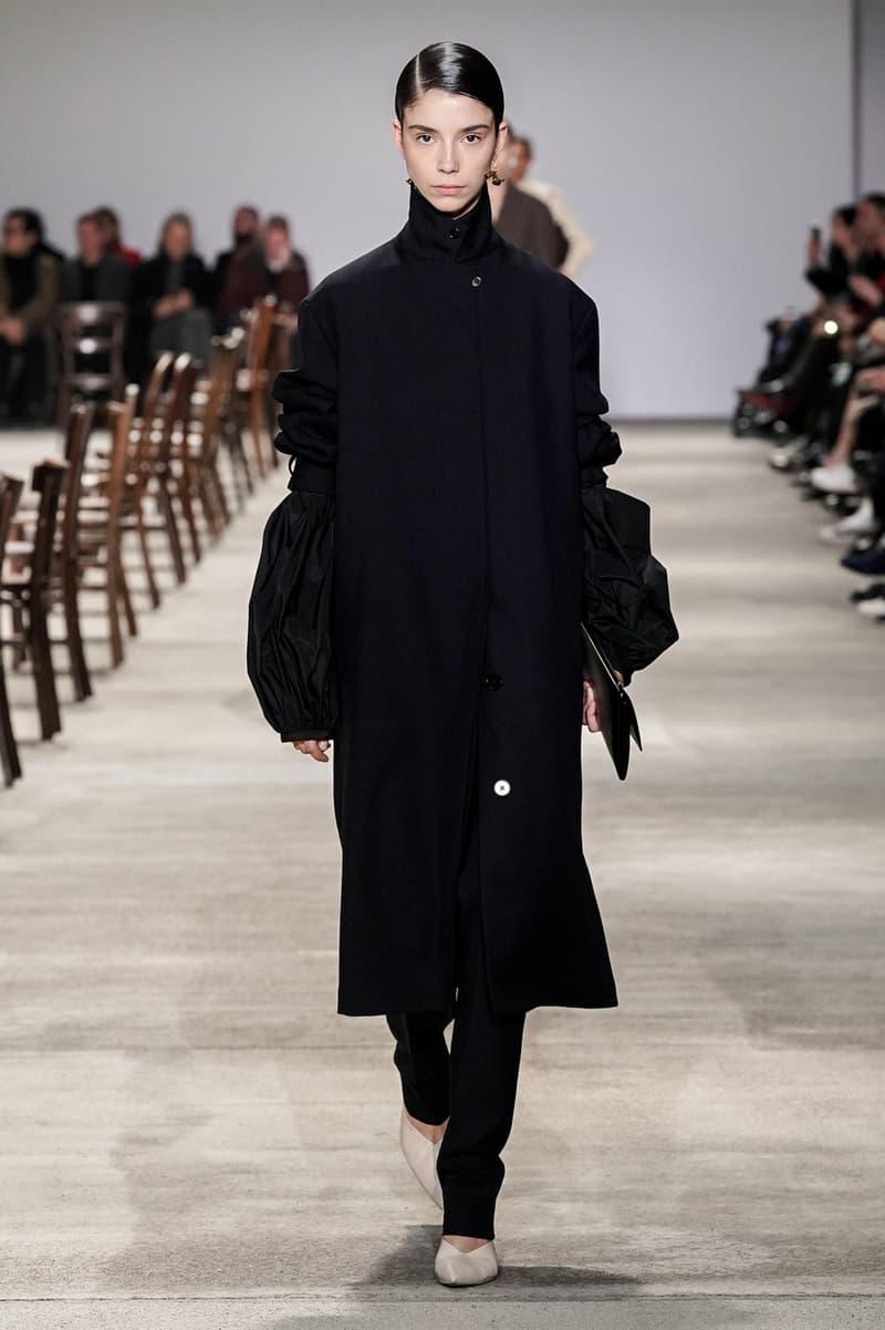 Jil Sander Fall/Winter 2020 Collection Runway Show Coat Black