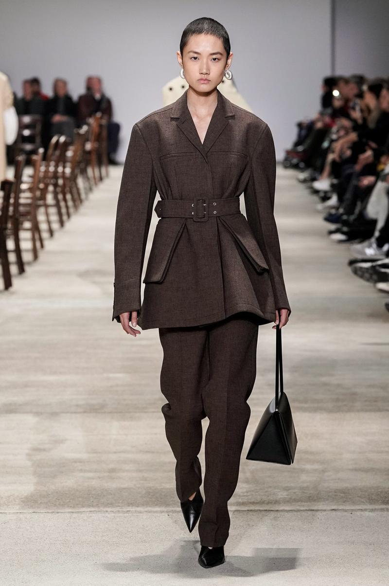 Jil Sander Fall/Winter 2020 Collection Runway Show Suit Brown