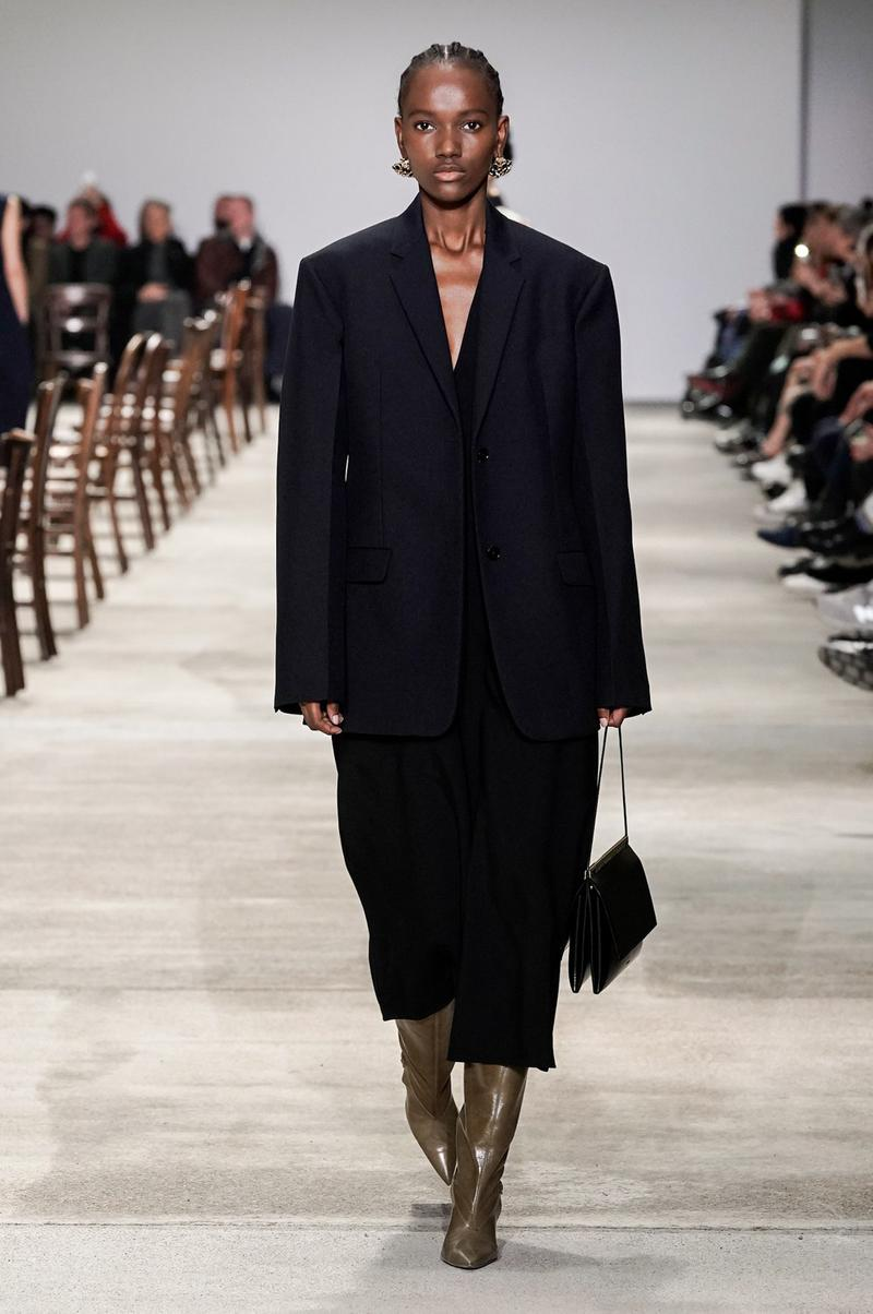 Jil Sander Fall/Winter 2020 Collection Runway Show Suit Black