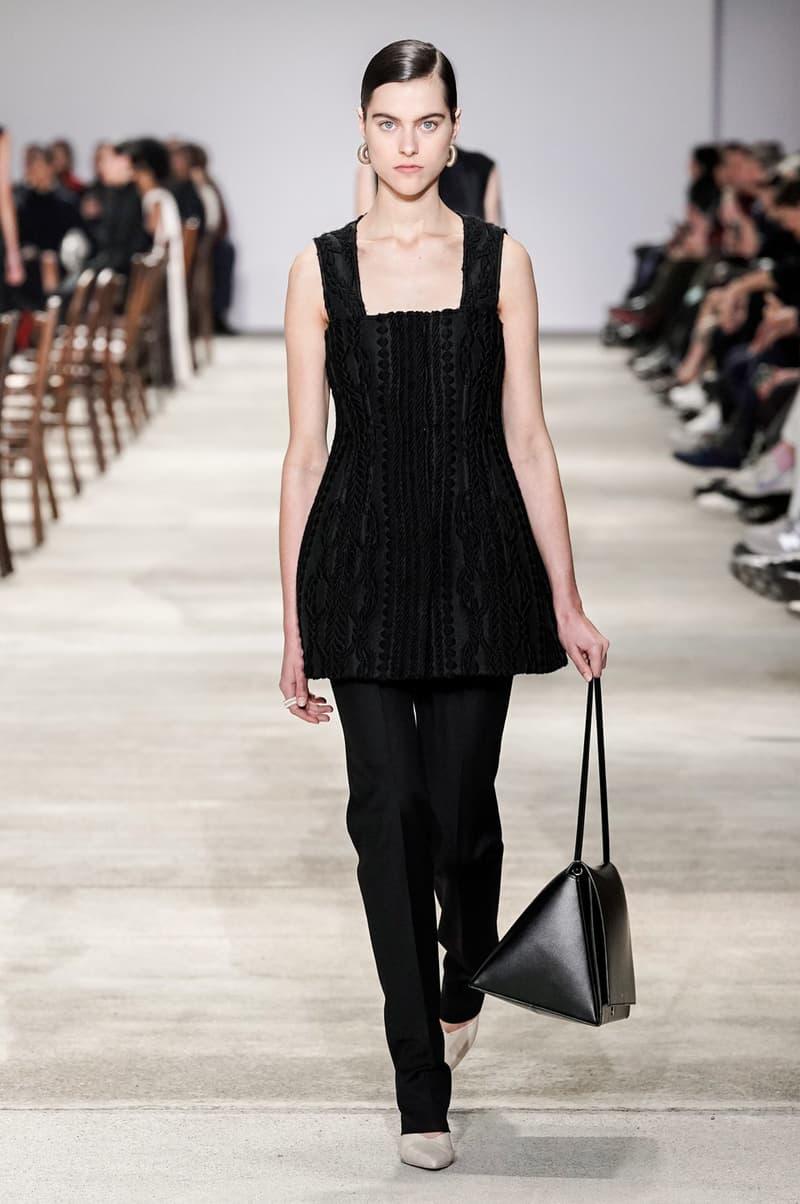 Jil Sander Fall/Winter 2020 Collection Runway Show Bodice Top Pants Black