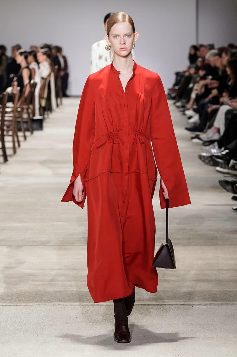 Jil Sander Fall/Winter 2020 Collection Runway Show Dress Red