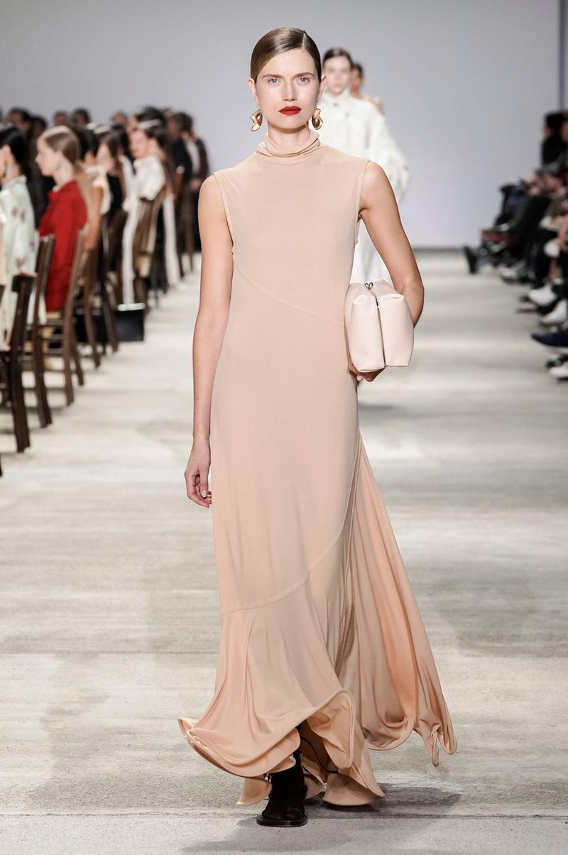 Jil Sander Fall/Winter 2020 Collection Runway Show Knit Dress Pink