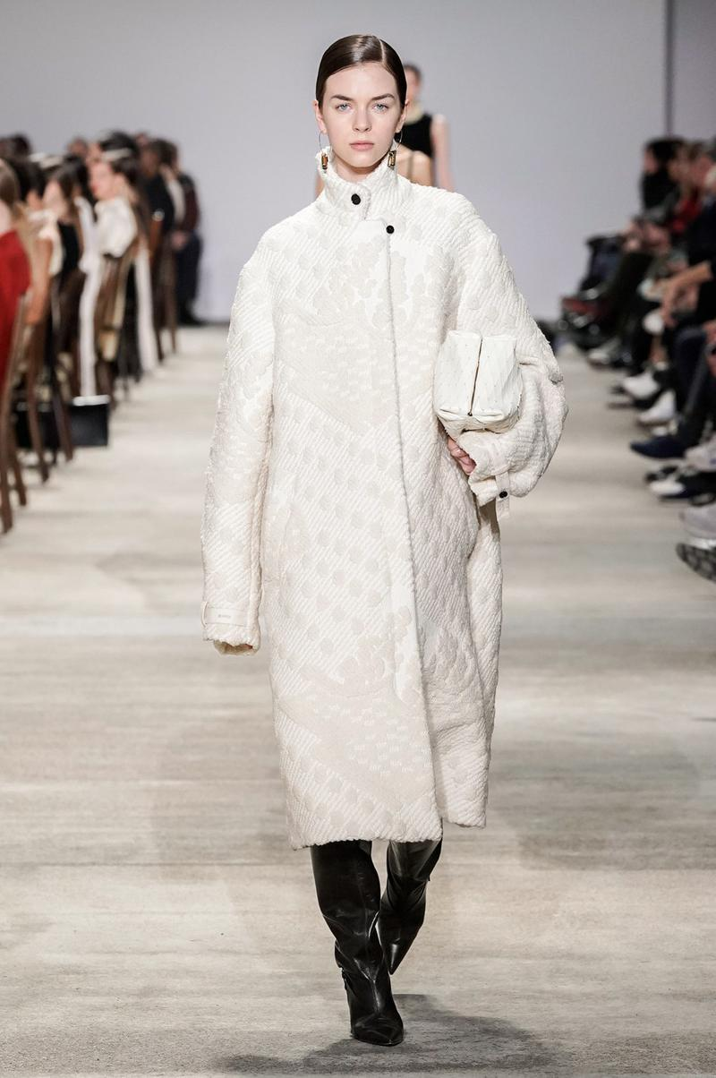 Jil Sander Fall/Winter 2020 Collection Runway Show Coat White