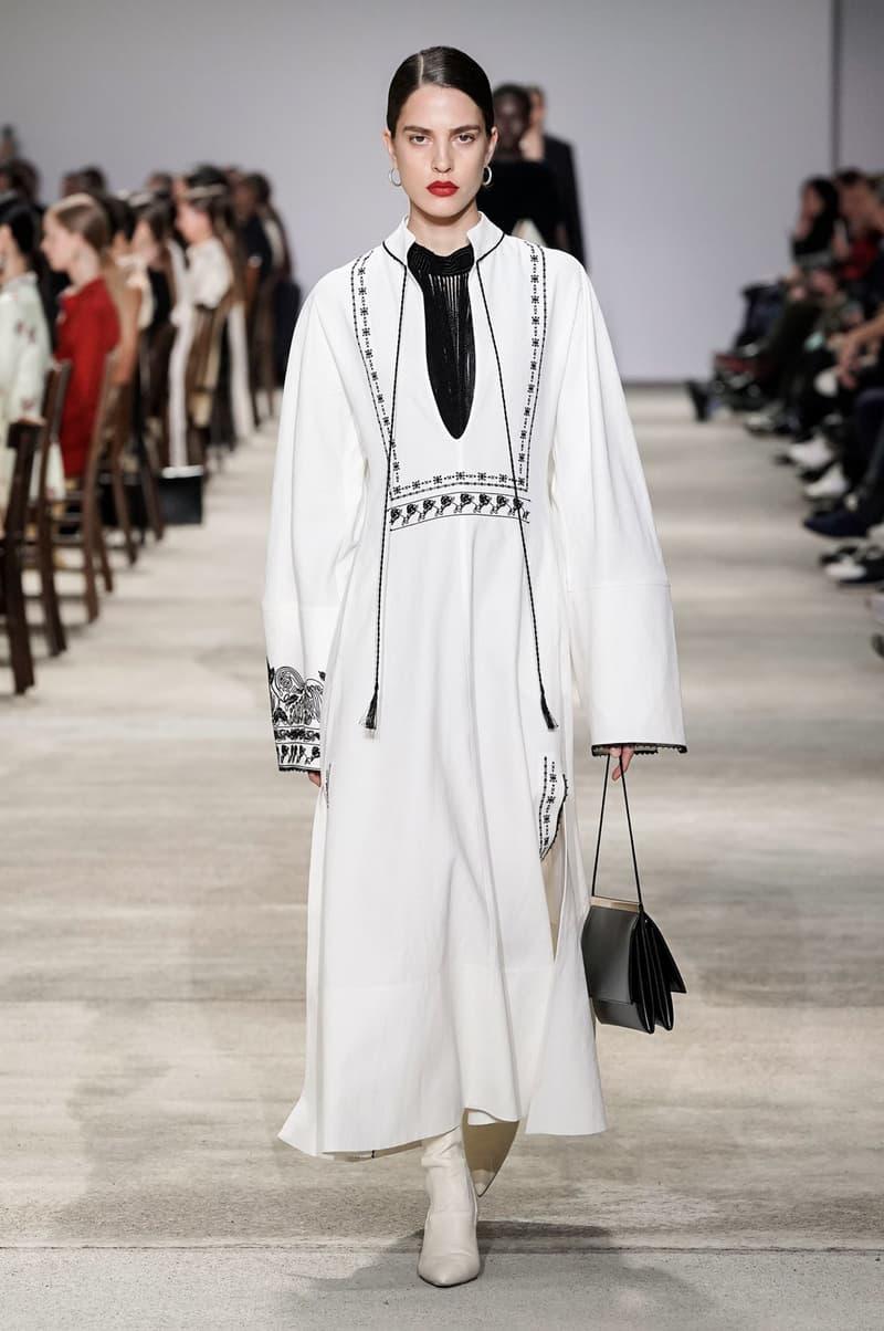 Jil Sander Fall/Winter 2020 Collection Runway Show Tunic Dress White