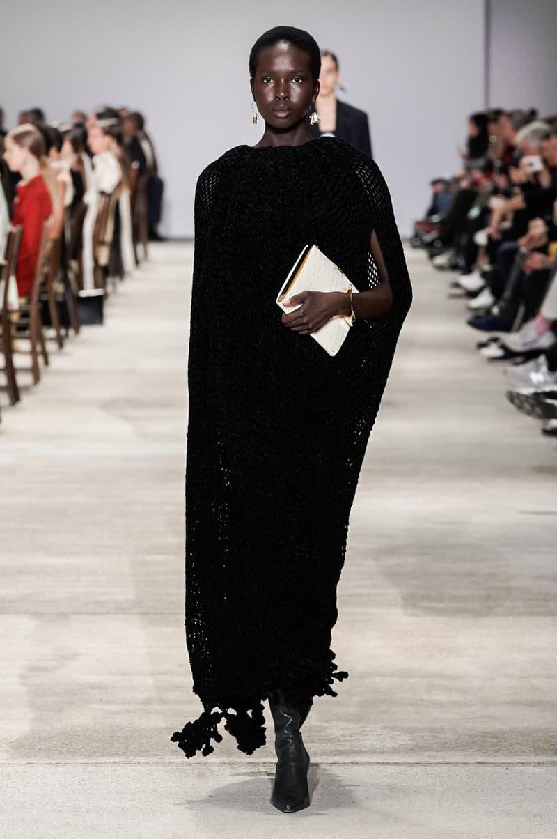 Jil Sander Fall/Winter 2020 Collection Runway Show Knit Dress Black