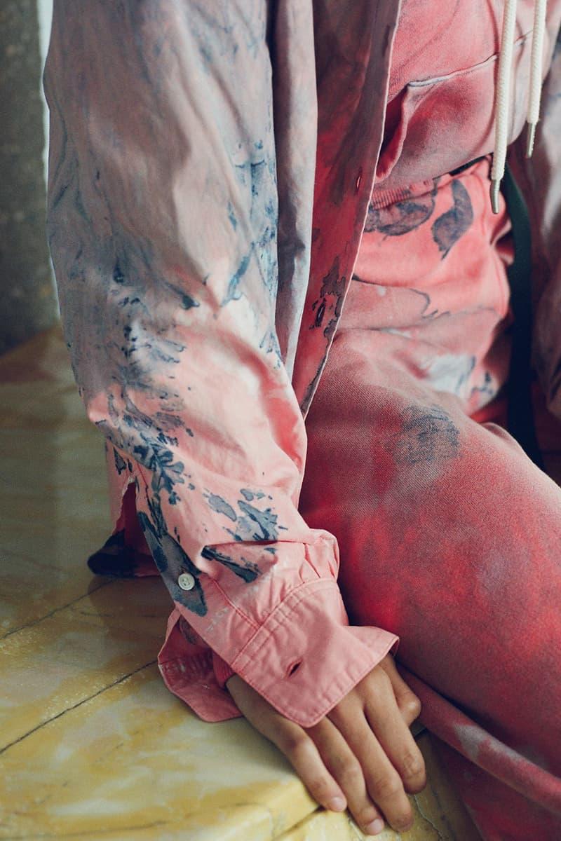 john elliott spring summer collection tank top cargo pants denim jacket dress boots dusty pink green beige joshua tree doolittle house