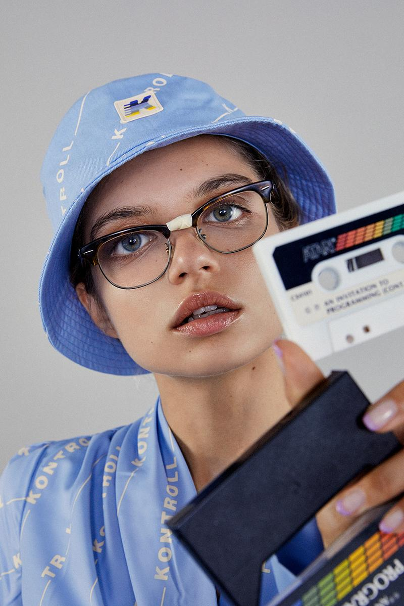 kappa kontroll spring summer womens lookbook glasses bucket hat pastel blue