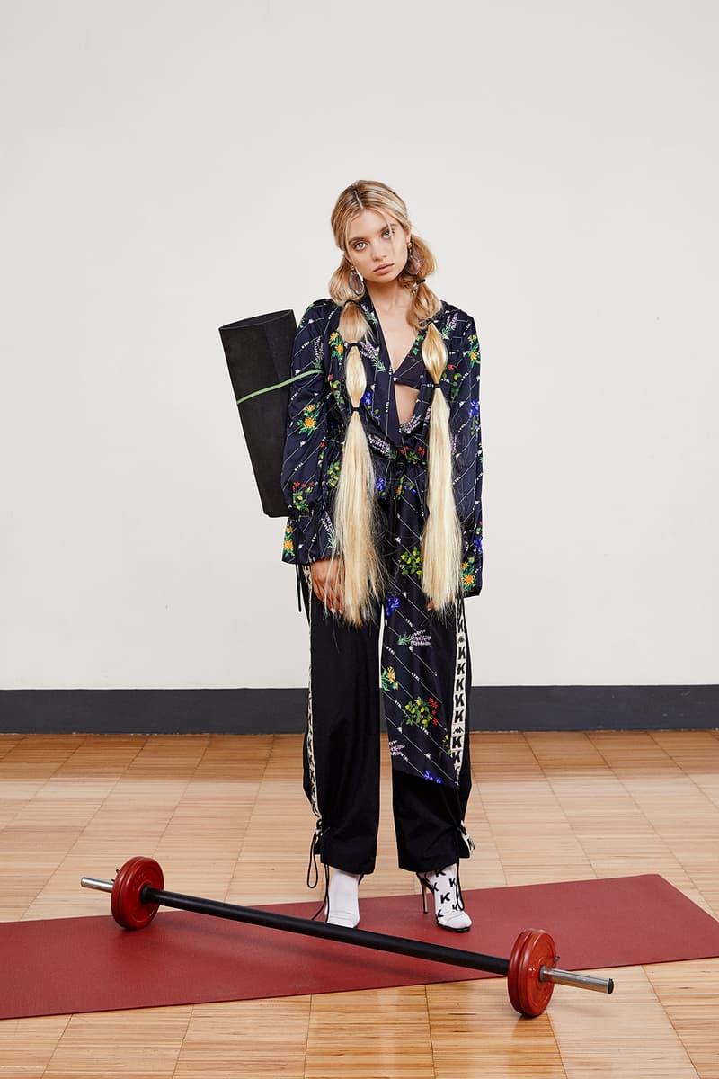 kappa kontroll spring summer womens lookbook sportswear pants shirt yoga matt