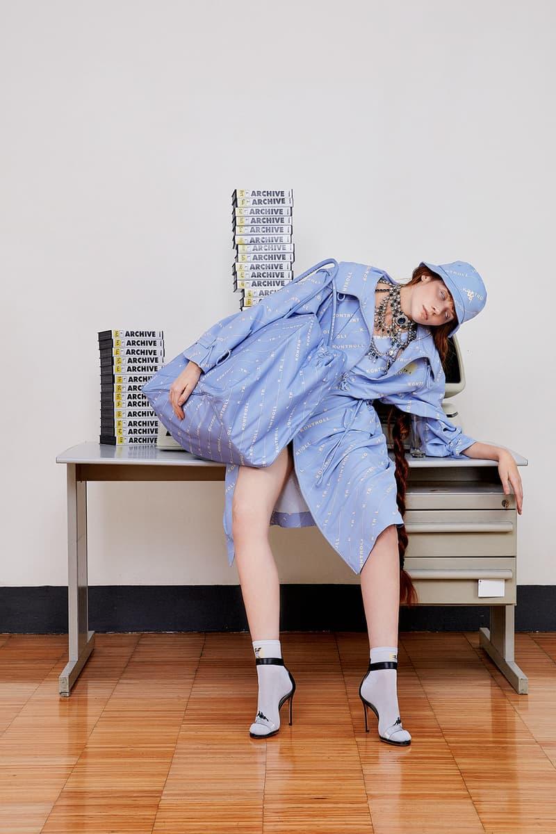 kappa kontroll spring summer womens lookbook hat jacket heels pastel blue bag