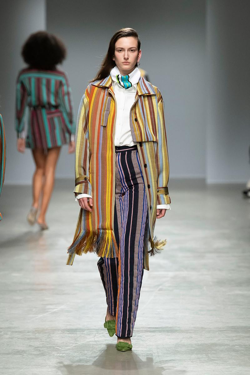 Kenneth Ize Fall/Winter 2020 Collection Runway Show Striped Coat Pants