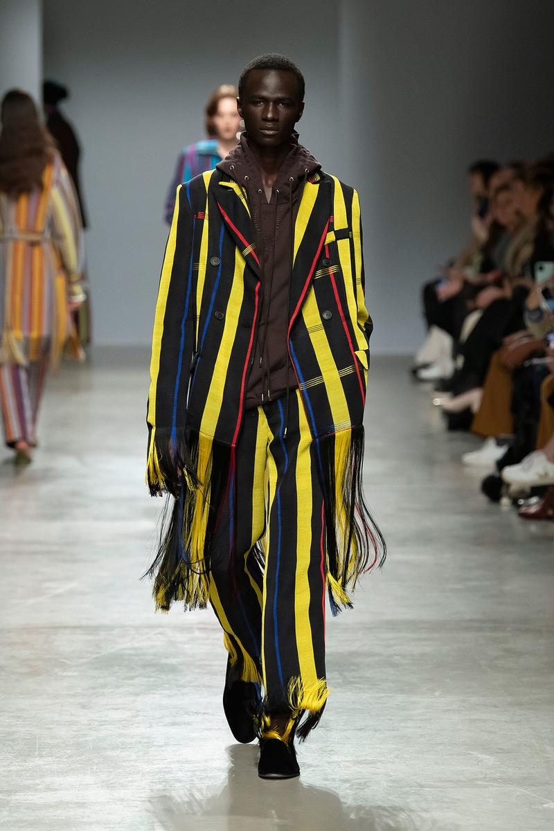 Kenneth Ize Fall/Winter 2020 Collection Runway Show Woven Suit Yellow