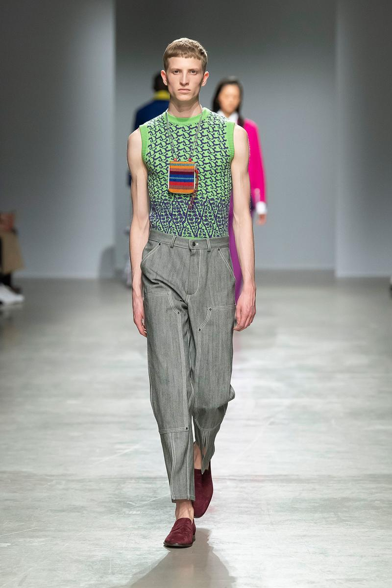 Kenneth Ize Fall/Winter 2020 Collection Runway Show Sweater Vest Green Men's