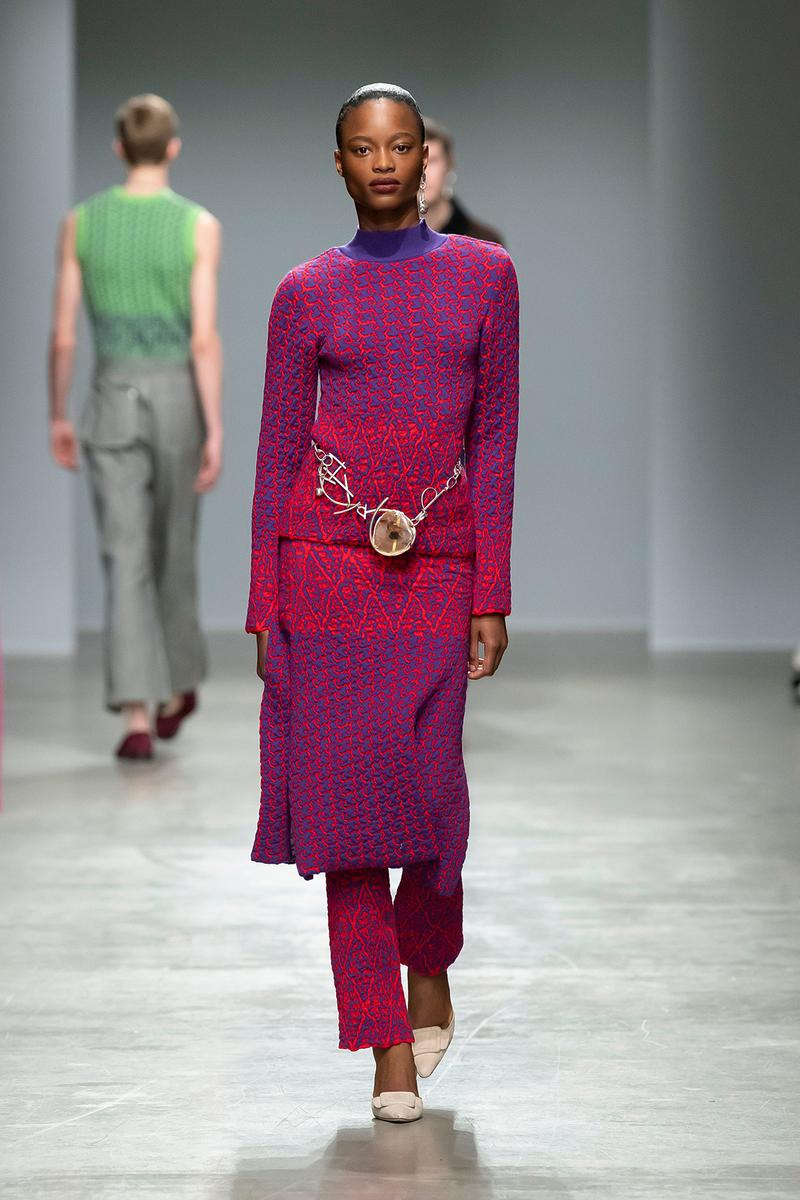 Kenneth Ize Fall/Winter 2020 Collection Runway Show Knit Dress Pink