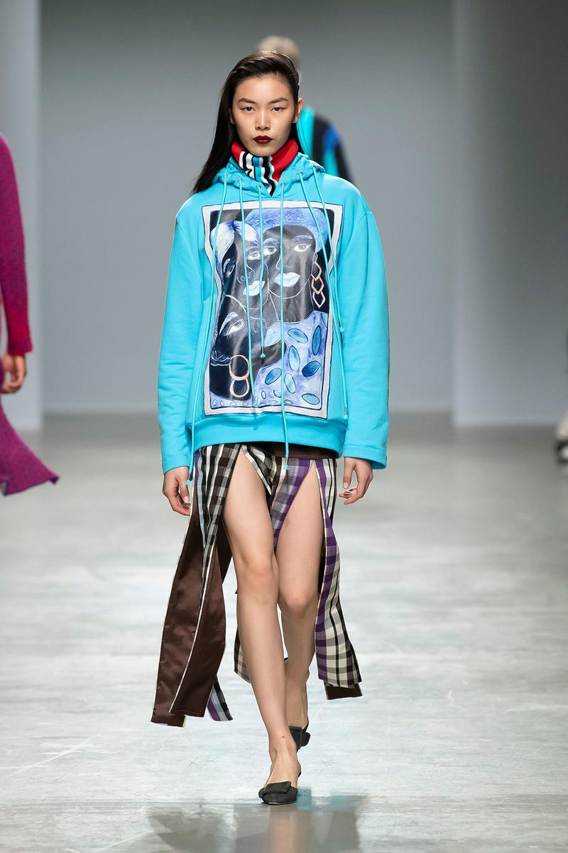 Kenneth Ize Fall/Winter 2020 Collection Runway Show Hoodie Skirt