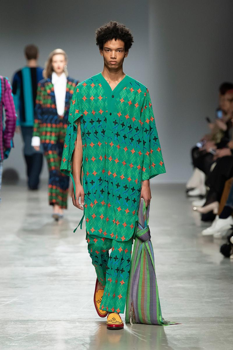 Kenneth Ize Fall/Winter 2020 Collection Runway Show Tunic Pants Green