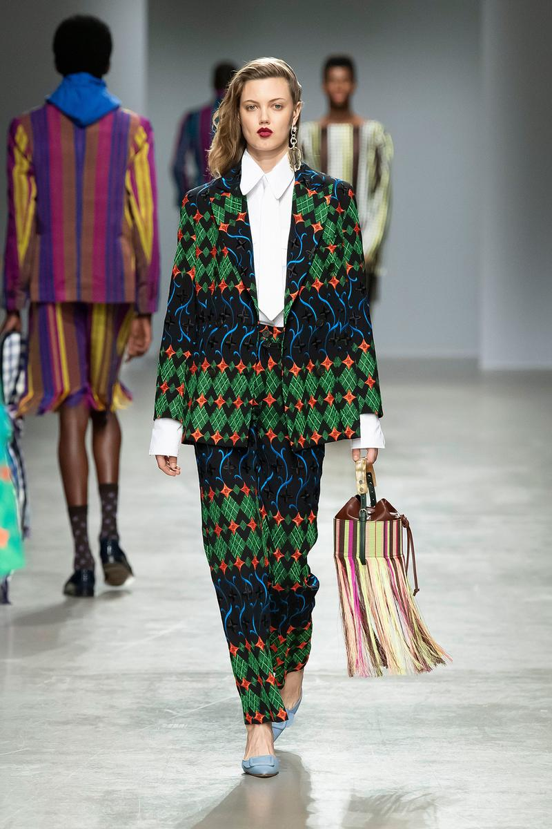 Kenneth Ize Fall/Winter 2020 Collection Runway Show Suit Embroidered